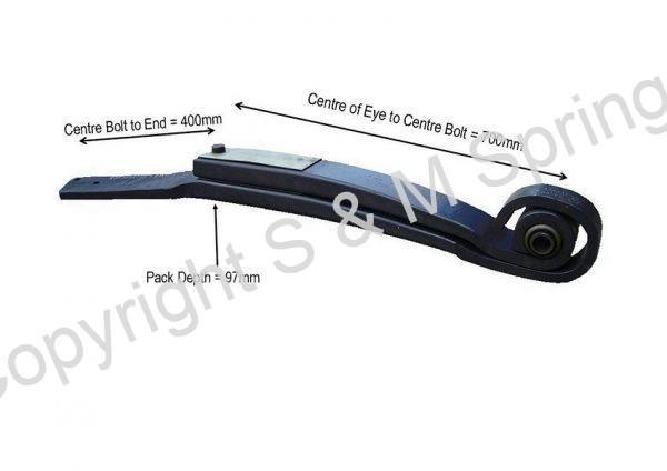 1421060 1421061 SCANIA Springs Rear Axle 2 Leaf dimensions