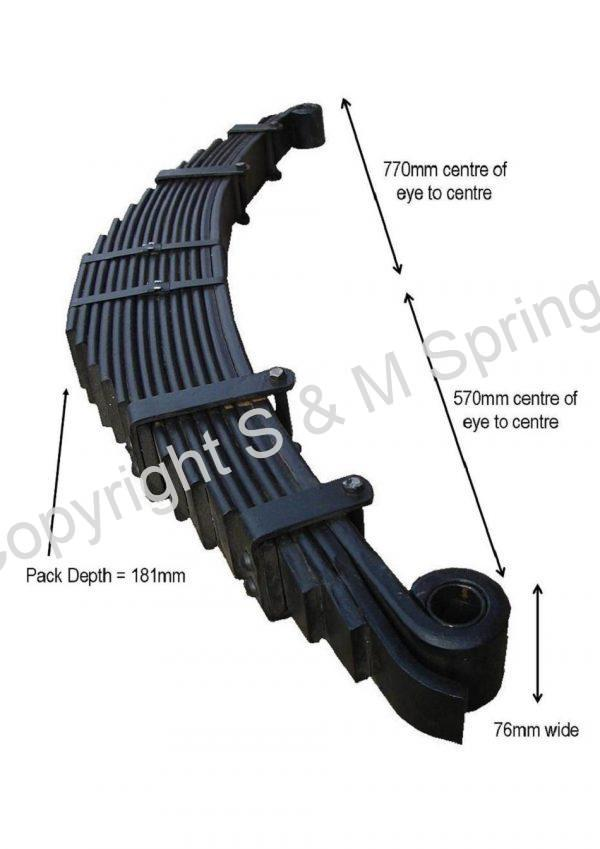 812380 DENNIS Elite 2 820499 Rear Spring Underslung dimensions