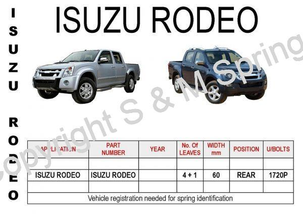ISUZU RODEO Leaf Springs Rear
