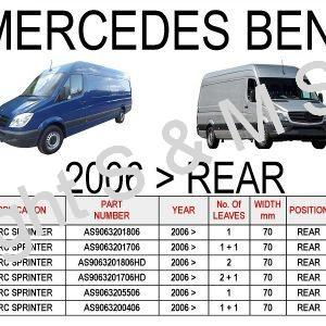 MERCEDES Sprinter 2006 onwards Rear Leaf Springs