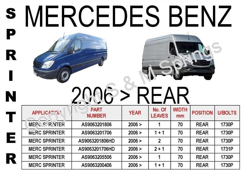 Mercedes Sprinter Leaf Springs (post 2006)