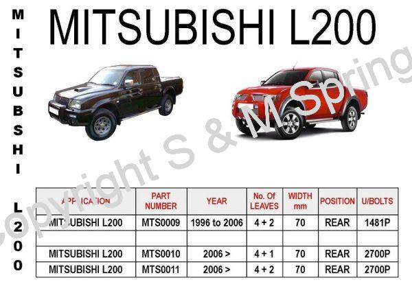 MITSUBISHI L200 Leaf Springs Rear