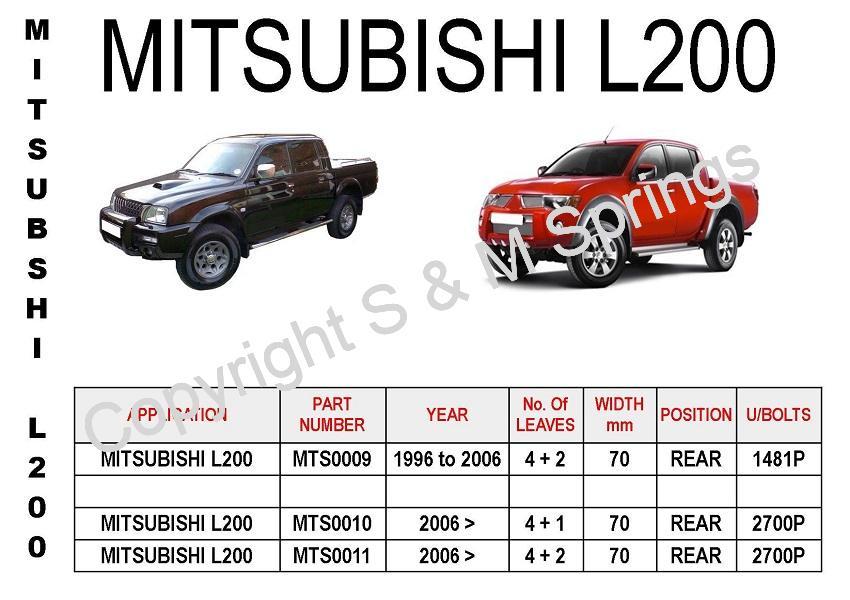 Mitsubishi L200 Leaf Springs