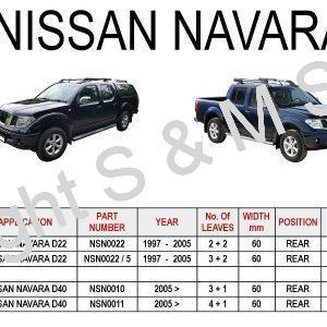 NISSAN Navara D22 D40 Leaf Springs Rear