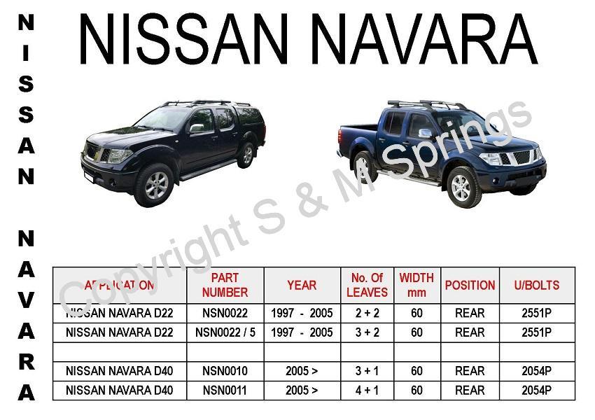 Nissan Navara Leaf Springs D22 & D40