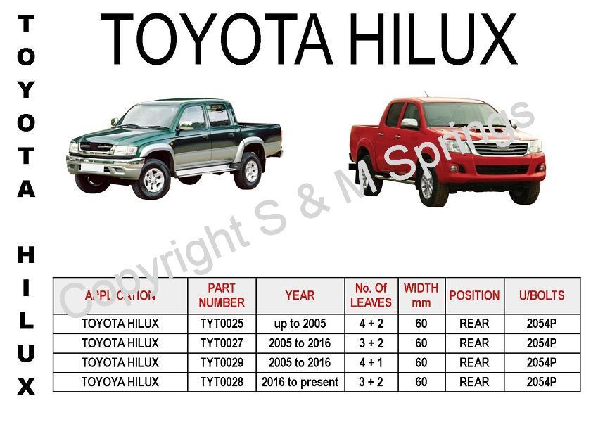 Toyota Hilux Leaf Springs