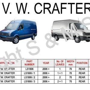 V.W. Crafter Rear Leaf-Springs