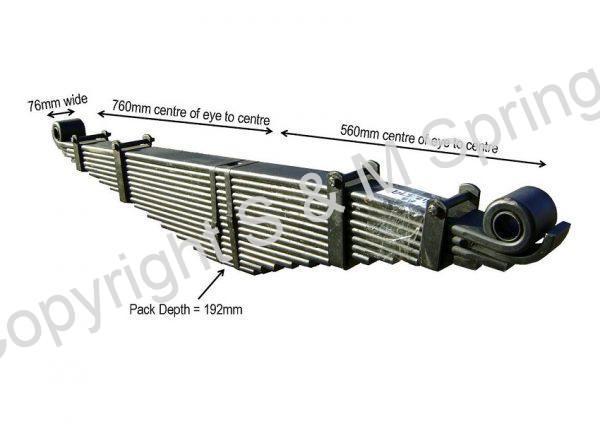 812379 DENNIS Elite Spring Rear 14 Leaf Overslung dimensions