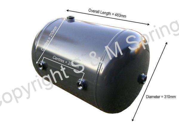 1778889 SCANIA Air Tank 30 Ltires 4 ports 483 x 310mm dimensions