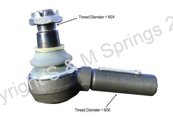 3349183R1 SEDDON Track-Rod End R.H.T.dimensions