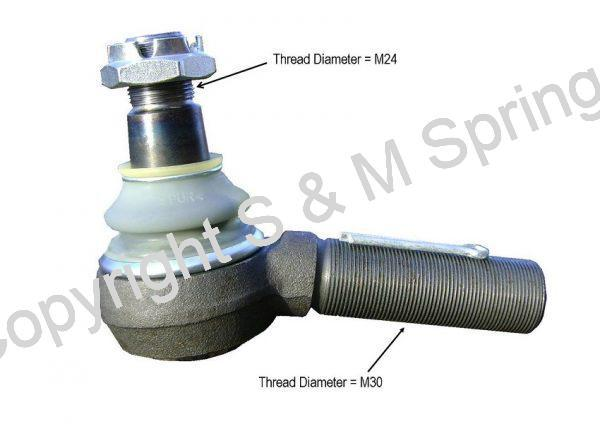 4119875 BOVA Ball-Joint R.H.T. dimensions
