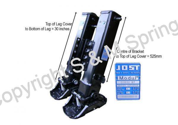 1133397 1133410 SCHMITZ Landing Legs JOST CI 1032 B7 dimensions