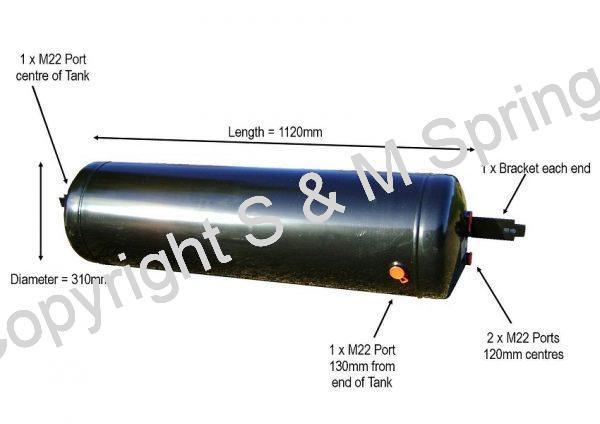 1193014 SCHMITZ Air Reservoir-Tank dimensions