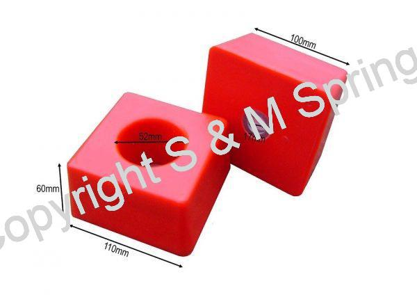 1455837 FODEN Bump Stop Rear Single Stud (Red) dimensions