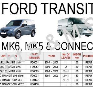 Ford Transit MK6 Leaf Springs Rear