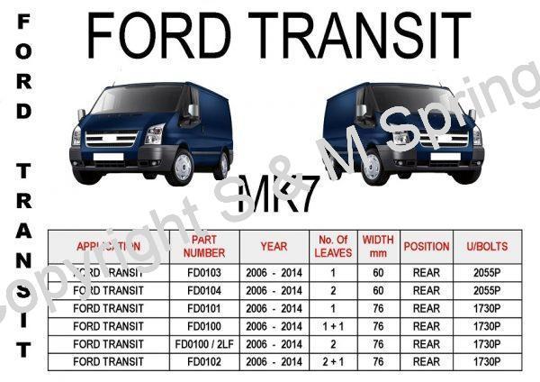 Ford Transit MK7 Leaf Springs Rear