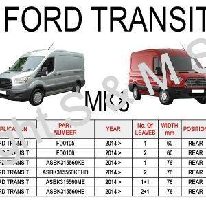 Ford Transit Mk8 Leaf Springs Rear