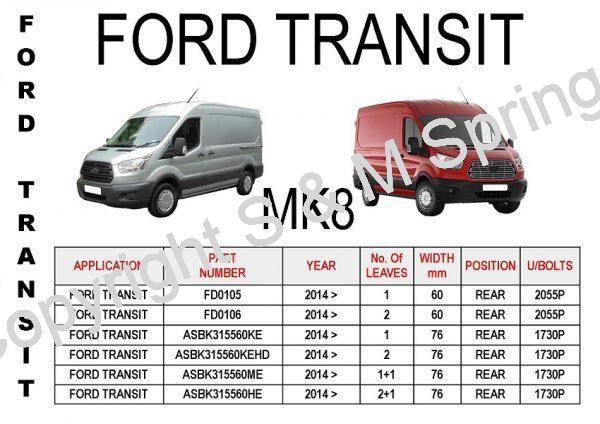 Ford Transit Mk8 Leaf Springs Rear
