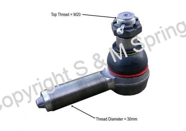 24240040 R5400010 X1858684 OPTARE Solo Track Rod End RHT dimensions