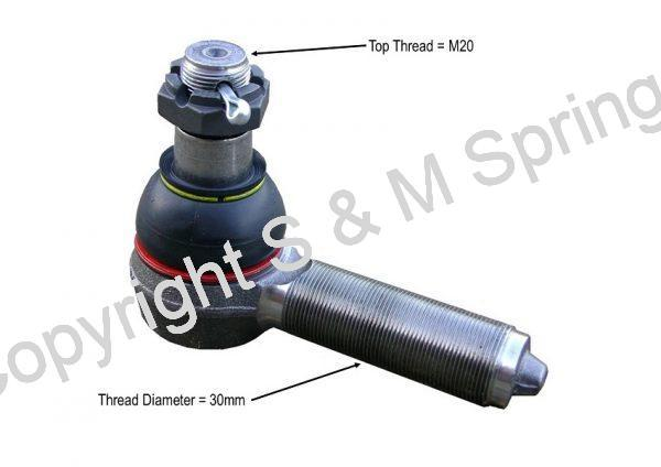 24240041 R5400009 X1858685 OPTARE Solo Track Rod End LHT dimensions