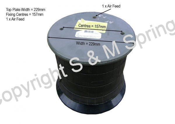 1300335000 FODEN Air Bag dimensions