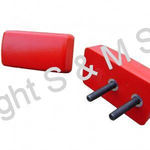 1455850 FODEN Bump Stop Rear Two Stud Red (Stop Block)