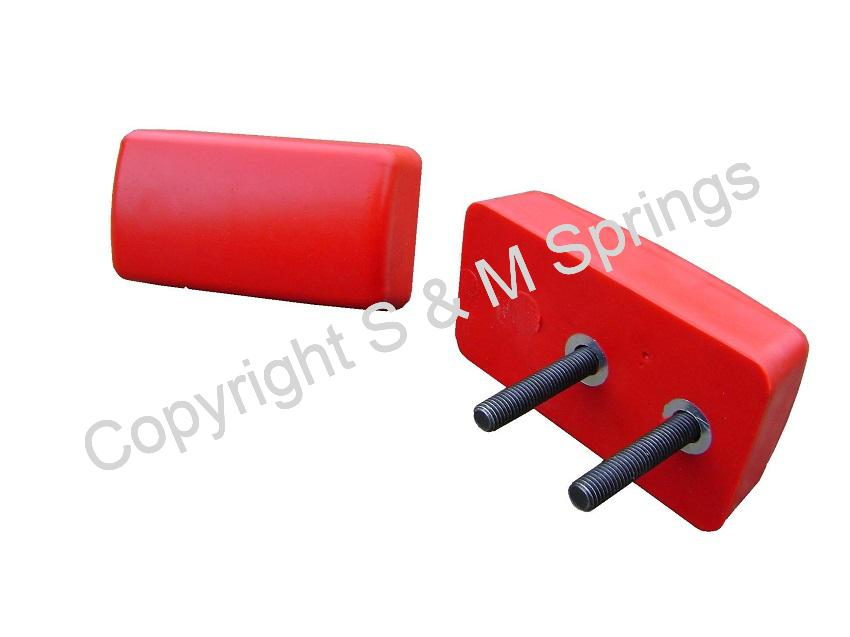 1455850 FODEN Bump Stop Rear (Two Stud) Red